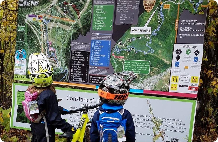 Young mountain bikers