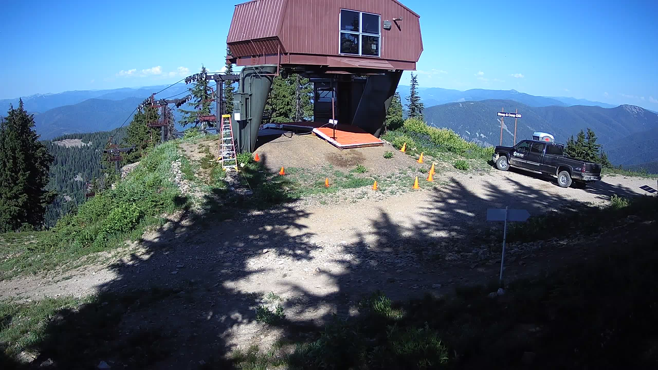 Webcam view from Kellogg Peak in Northern Idaho